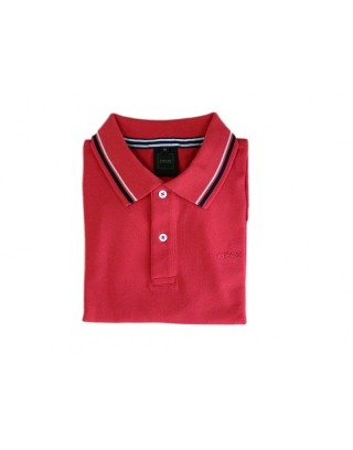 GEOX T-SHIRT POLO FLAME ROSSO